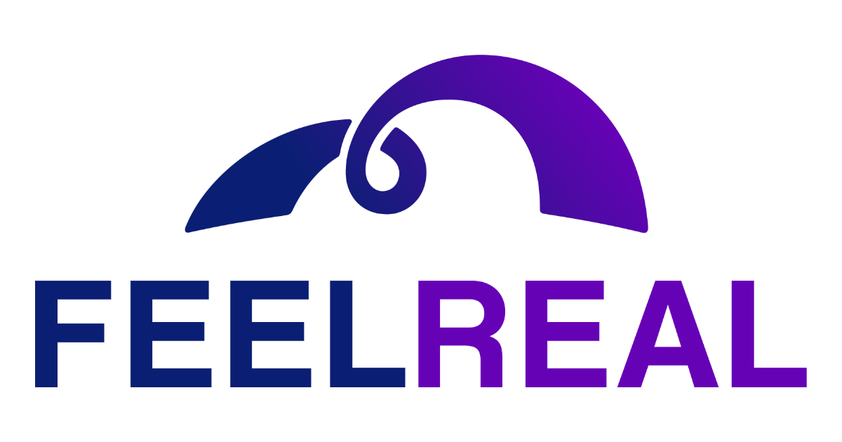 FeelReal Logo with swirly bridge